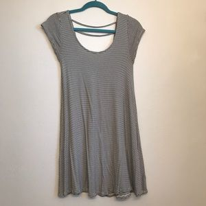 American Eagle Shirt Sleeve Striped Dress